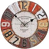 QHGstore 12 Zoll Holz nach Hause Wanduhren Uhr für Wohnzimmer Schlafzimmer Büro hängen A