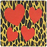 3drose LLC 20,3x 20,3x 0,6cm Cheetah Print mit 4roten Herzen Muster Maus Pad (MP _ 46556Halsung _ 1)