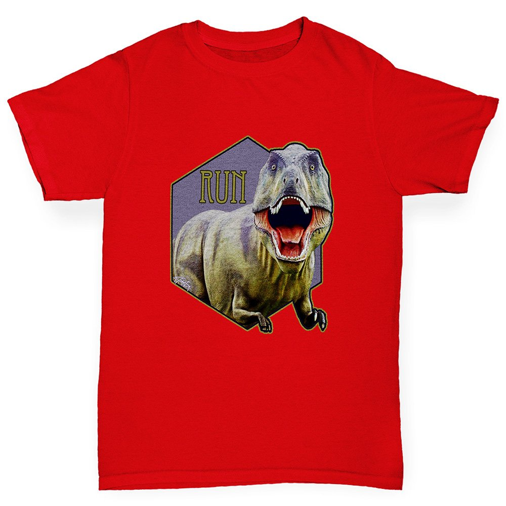TWISTED ENVY Dinosaur Trex Run Girl's Printed Cotton T-Shirt, Comfortable  and Soft Classic Tee With Unique Design: Amazon.co.uk: Clothing