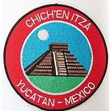 PARCHE BORDADO Chichen Itza Yucatan Mexico Hierro bordado en el parche Travel Badge El Castillo Mayan Temple Applique Trek Souvenir Itza Yucatan Mexique ...