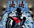 3D Duvet Cover Bedding Set European Single Size 3 PCS *** BM Motorbike*** - inexpensive UK light shop.
