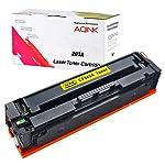 AQINK 1 Yellow 203A CF540A CF541A CF542A CF543A 203X CF540X HP Compatible Toner Cartridges for HP Color Laserjet Pro MFP...