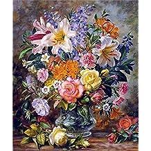 GMMH Diamond Painting Juego DE 30 x 40 Diamante Pintura Bordado Mano Manualidades mosaicos Flores Cesta