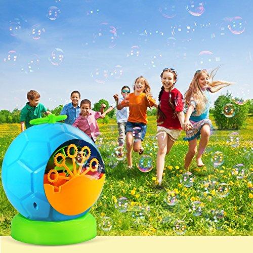 Macchina-per-Bolle-per-Bambini-Geekper-Bubble-Maker-Automatico-Durevole-per-i-Bambini-Oltre-500-Bollicine-al-Minuto-per-uso-Esterno-o-Interno