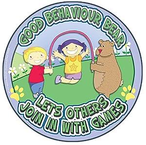Inspirational Playlands P200222 - Señal de Oso de Buena conducta, diseño Educativo