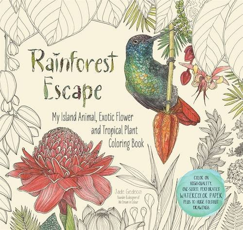 Rainforest Escape: My Island Animal, Exotic Flower and Tropical Plant Color Book (Colouring Books)