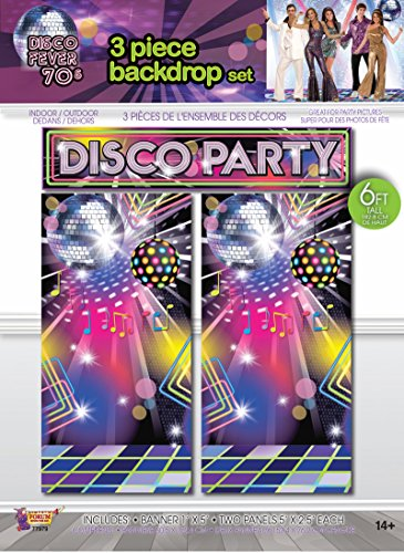 3 x 6ft Disco Party Wall Décoration Backdrop.