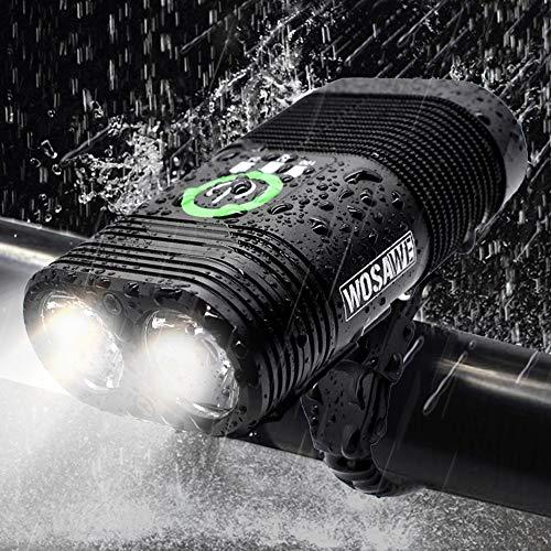 MTSBW Fahrrad Licht Doppel LED Eingebaute Wiederaufladbare Kopf Lightusb Scheinwerfer Beleuchtung Blendung Wasserdicht