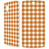 Handyschale Handycase für Flip Cover für LG Nexus 5 (weiss) veredelt mit YOUNiiK Styling Skin - Vichy Karo Orange