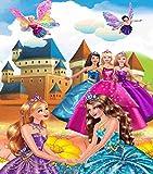 Kayra Décor Barbie and Her Friends 3D Wallpaper for Home Decor (Vinyl, 3 X 4 ft, Multicolour)