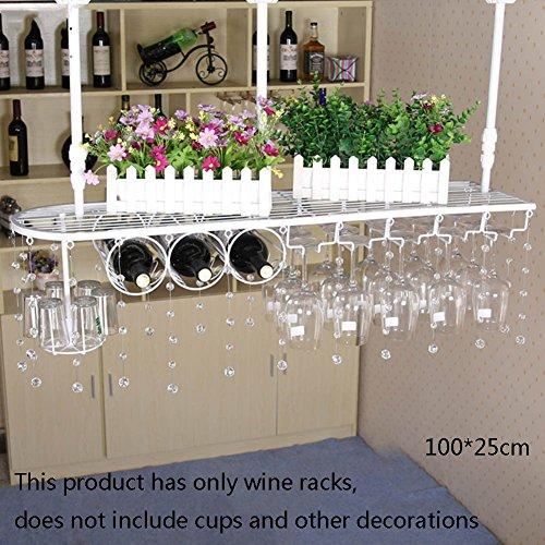 TLMY Weinschränke Haushalt Eisen Wein Cupholder hängender Kopf Weinregal Wein hängen Weinregale (größe : 100 * 25cm)
