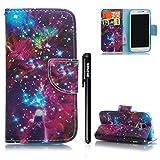 Galaxy S5 Mini Hülle,BtDuck PU Leder Stand Flip Cover mit Silikon Hülle Mädchen Tasche Schutzhülle Handyhülle Kompatibel mit Samsung Galaxy S5 Mini Magnet Brieftasche Kinder Geschenk