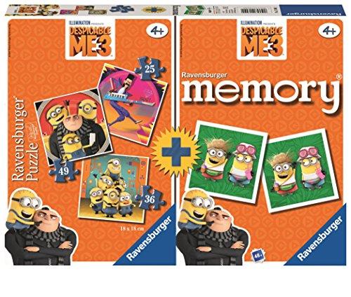 Ravensburger-Multipack-Memory-3-Puzzles-Gru-Mi-Villano-Favorito-21309