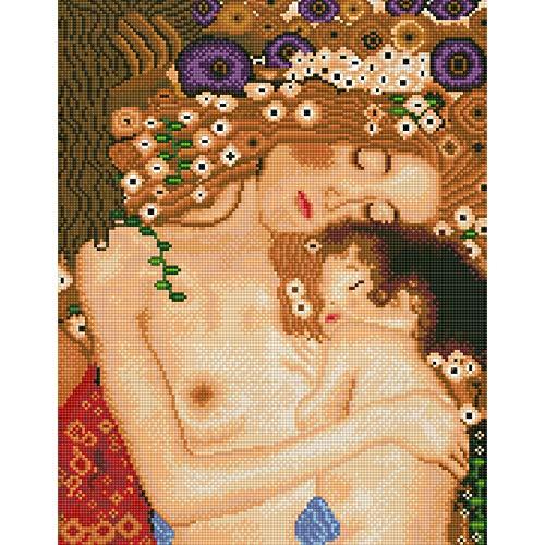 5D Diamant Malerei-Set - 30,5 x 40,6 cm A Mother's Love Mutterschaft Brett Design mit Baby DIY Vollrunder Bohrer Edelstein Juwelen Strass Stickerei Set Bastelbedarf für Erwachsene -