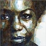 Poster 100 x 100 cm: Nina Simone von Paul Paul Lovering Arts - Hochwertiger Kunstdruck, Kunstposter