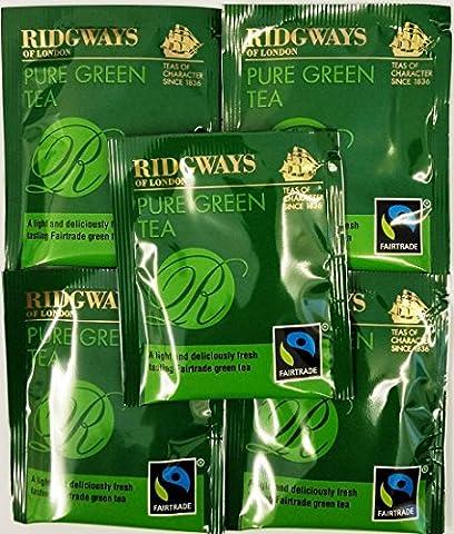 20 x Ridgways Pure Green Tea Bags ~ Individual Enveloped Tagged Tea bags