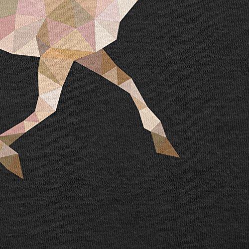 TEXLAB - Poly Deer - Herren T-Shirt Schwarz