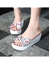 OME&QIUMEI Los Estudiantes Refrescarse Zapatos Zapatillas De Verano De Tierra E Imprimir El Fondo Plano 35 Gules