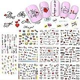 LXYQW Nail sticker Valentine Decals Nail Art Sticker Decals Wasser Schönheit Brief Liebe Für Dekor DIY Tools