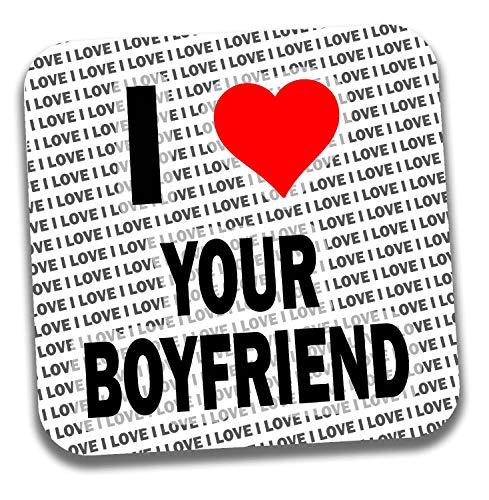 I love your Boyfriend Getränke Untersetzer-Geschenk-Geburtstag-Weihnachten-Strumpffüller