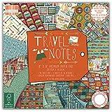 First Edition Travel Notes - Fogli di carta FSC per découpage, 20,3 x 20,3 cm
