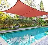 Greenbay Rectangle Anti-UV Sun Shade Sail Outdoor Patio Party Sunscreen Canopy Sunsail 3x2m Terracotta