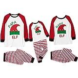 Famiglia Pigiama di Natale Mamma papà Bebè 2PC Cotone Camicie Manica Lunga + Pantaloni Strisce Set Indumenti da Notte per Uom