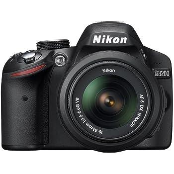 Nikon D3200 24.2 MP Digital SLR Camera (Black) with AF-S 18-55mm VR II Kit Lens, 8GB Memory Card, DSLR Camera Bag