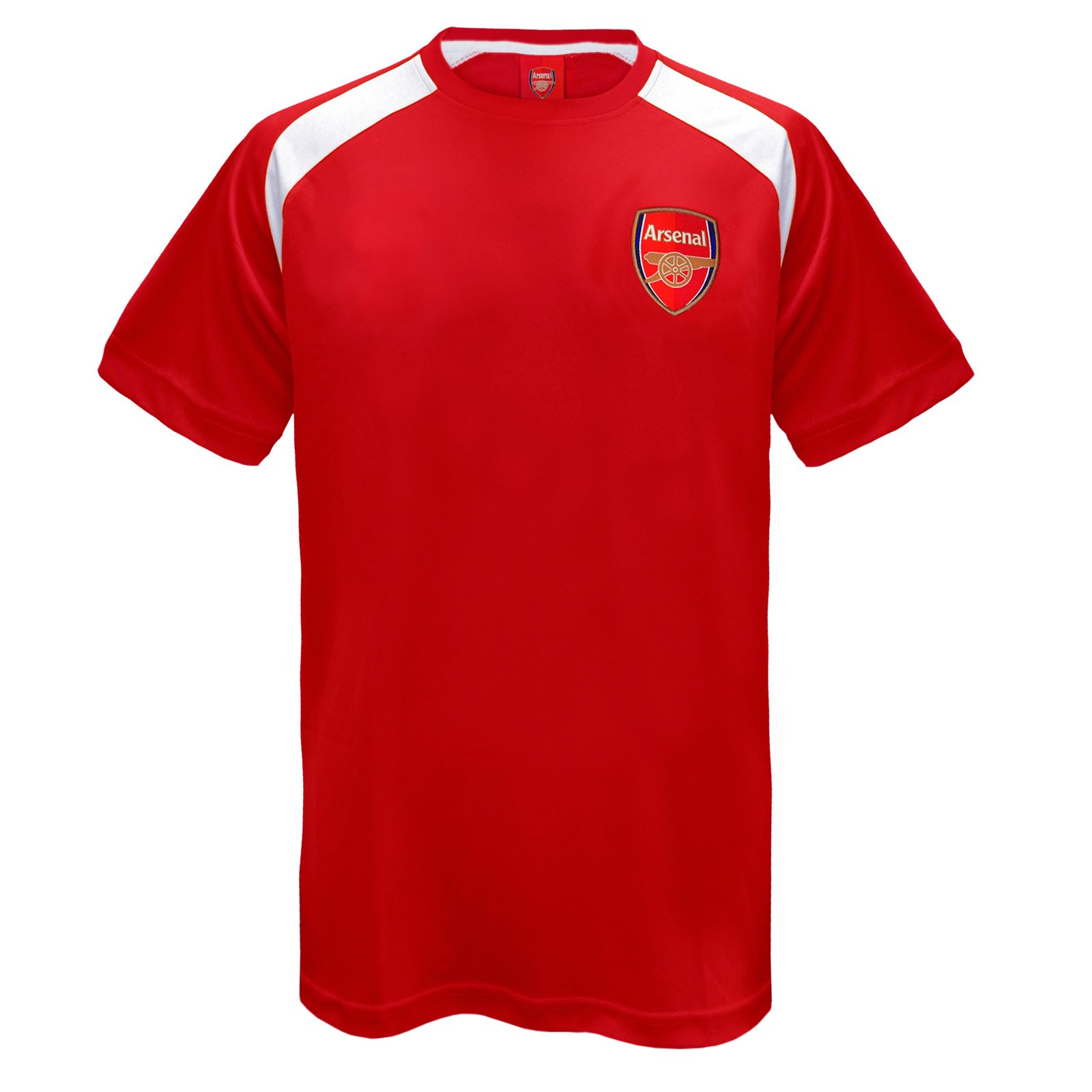 timeless design e8a52 cf366 Arsenal FC Official Football Gift Mens Poly Training Kit T-Shirt