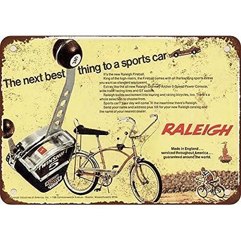 1968Fireball Raleigh Bici stile vintage Riproduzione in metallo Tin Sign 20,3x 30,5cm