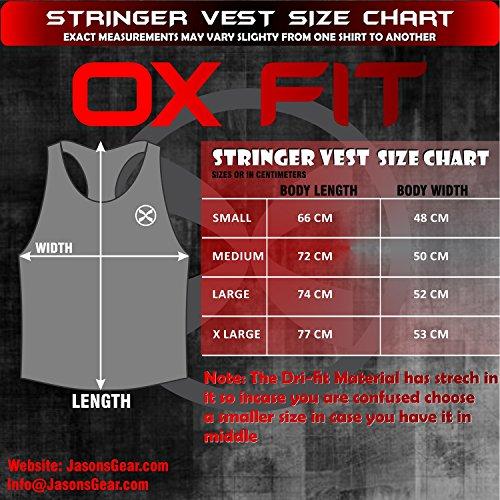 Ox Fit Uomo Canotta Canotta senza maniche Stringer Vest Training Canotta Gym Sport Running Heather Red