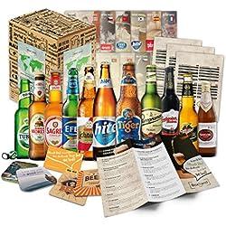 """""""CERVEZAS DEL MUNDO"""" Original caja-regalo con las 12 mejores birras del mundo. El mejor detalle para un amigo, novio, hermano, padre o abuelo."""
