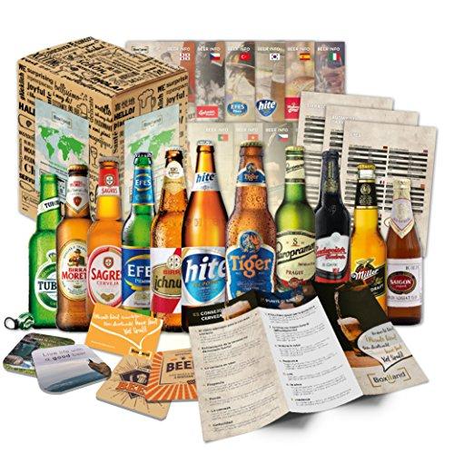 BOXILAND - Bier-Geschenk-Box mit 12 verschiedene Bier-Sorten (12 Biere x 0,33l) -