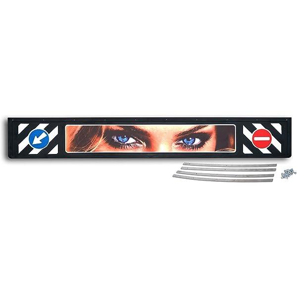Schmutzfängerleiste Eyes Aus Hartgummi Länge 2400mm Höhe 350mm Dicke Ca 6mm Schwere Ausführung 6 5 Kg Auto