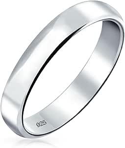 Basic Plain Simple Dome Couples Classic Black Rose Oro Placcato Titanio 4MM Wedding Band Anello per Uomo Donna Comfort Fit