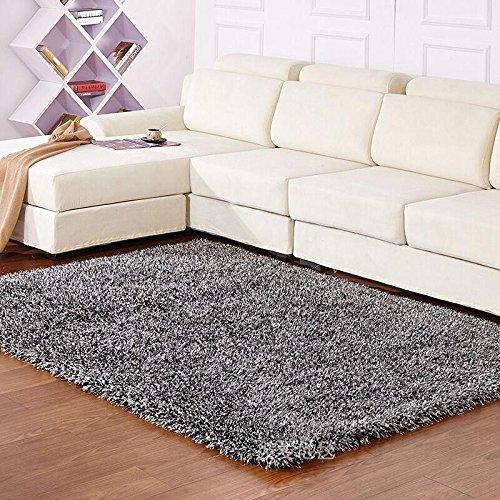 Qwer Die Deluxe Continental dicke Teppiche, elastischen Wohnzimmer Couchtisch und einem Schlafsofa Seite Schlafzimmer, 140 x 200 cm, schwarz und weiß Stretch flag Teppiche