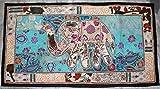 Antik handgefertigt Elefant Patchwork Ethnic Wandbehang Tapisserie Home Decor Tischläufer Größe 63,5x 127cm