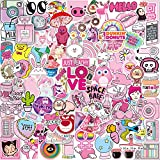 Q-Window Etiqueta Engomada Linda Muchacha Rosa Dibujo Animado [102 PCS] Stickers Vinilo Graffiti Calcomanías para Pared iPhone Ps4 Niños Bicicleta Ordenador Equipaje Xbox One Pegatinas Bomb