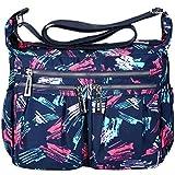 Vbiger Umhängetasche Damen Handtasche Henkeltasche Schultertasche Wasserdichte Leichte Crossbody Messengertasche für Mädchen Schule Frauen (Color1)
