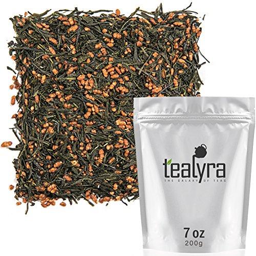 Tealyra - Gen Mai Cha Supreme - Japanese Loose Leaf Tea - Genmaicha Green Tea with Rice - Caffeine Level Low - 200g