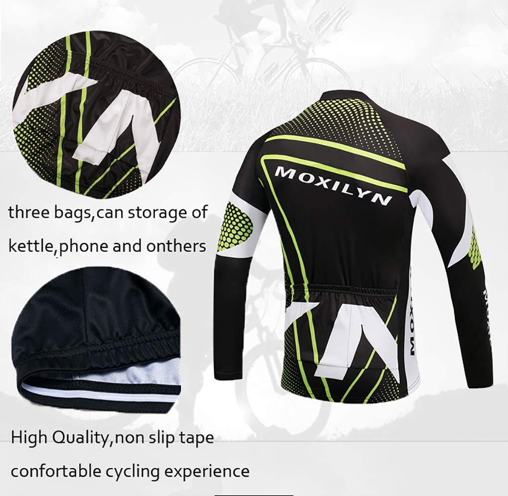 Moxilyn Maglie da Ciclismo Uomo,Maglietta Corta,Maglie Ciclismo Skinsuit,Abbigliamento da Ciclismo,Camicia Mountain Bike/MTB,Traspirante e Assorbente Del Sudore,Asciugatura Rapida