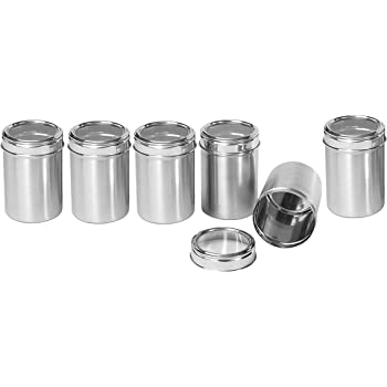 Dynore Stainless Steel Canister Set, Set of 6, Silver (DS_273)