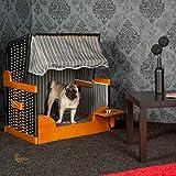 Hunde Strandkorb FELIX, anthrazit, mit Wassernapf, Hundekorb, Hundebett, von LILIMO ® - 3