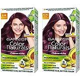 Garnier Color Naturals Cr√ɬ®me hair color, Shade 3.16 Burgundy, 70ml + 60g and Garnier Color Naturals Cr√ɬ®me hair color, Sha