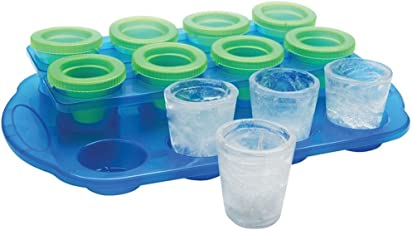 Styleys Ice Shot Glass Mould Pack of 12 Glasses Ice Cube Mould For Whiskey Lovers Cocktails, Non-Alcoholic Beverages