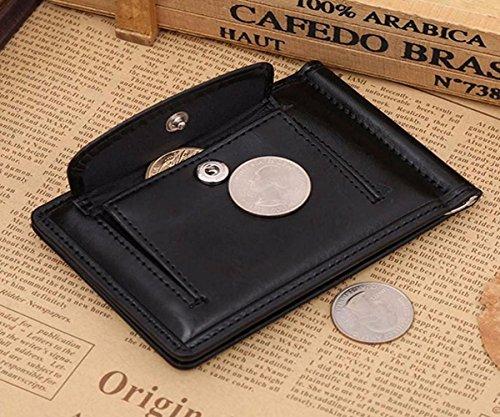 Geldbörsen, Rcool Männer Geldeingang PU Leder Bifold Geldbörse Karte Tasche (Kaffee) Schwarz
