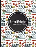 Best Barbecue Books - Real Estate Appointment Book: 4 Columns Appointment Diary Review