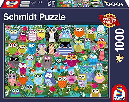 Schmidt Spiele Puzzle 58332-búhos de Collage II, 1000Piezas Puzzle