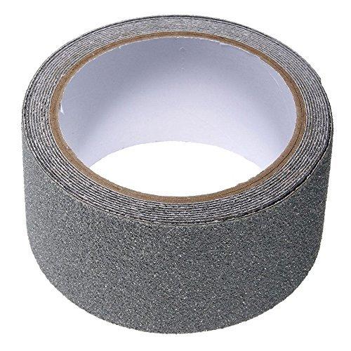 Homgaty Rutschfestes Klebeband, 5cm x 5cm, selbstklebend, Anti-Rutsch-Klebeband fü ,Stufen, Boote, Bodenbelag, grau