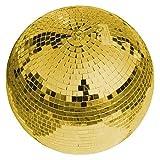 Spiegelkugel 30cm gold | Sicherheits-Discokugel mit goldenen Facetten | Perfekt zur Dekoration | Partyraum | Schaufenster